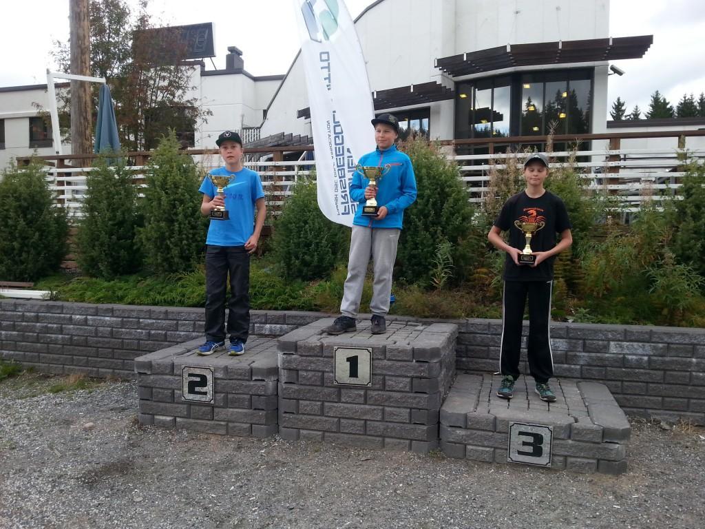 Juniorit-13 TOP 3: Samu Åström, Aaro Koskela ja Lauri Hämäläinen