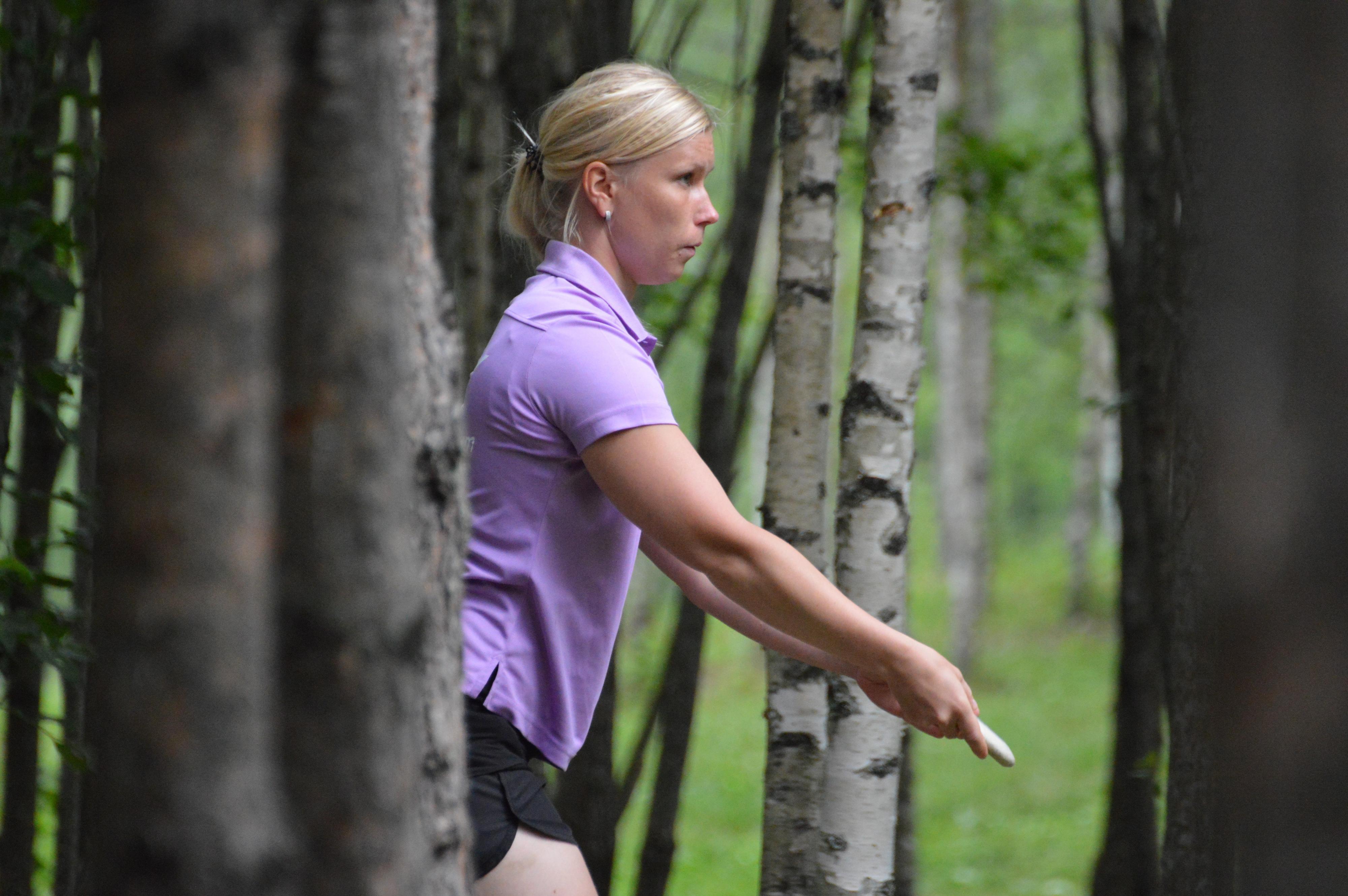 Jenni Eskelinen kilpailee kotiradallaan. Kuva: Kari Toivonen / SM2016